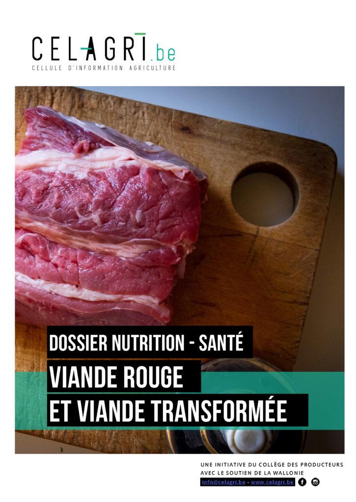 CELAGRI dossier viande rouge et viande transforme